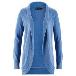 Sweter bez zapięcia bonprix kryształowy niebieski, kolor szary