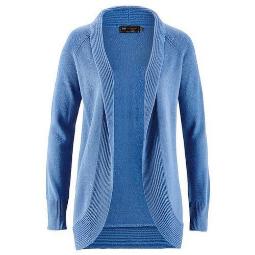Bonprix Sweter bez zapięcia kryształowy niebieski