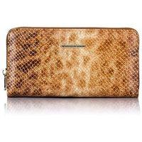 Duży portfel ze skóry lakierowanej jennifer jones 5247 złoty