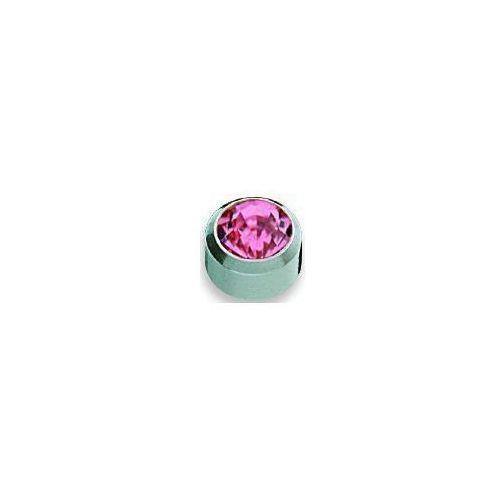 Kolczyk cyrkon różowy w oprawie pełnej kolor srebrny+ r210w marki Studex
