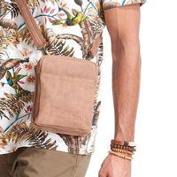 Saszetka skórzana torba na ramię always wild brązowa