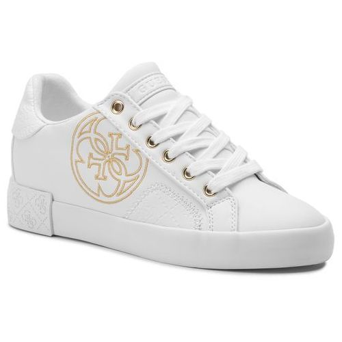 Sneakersy - pica fl7pic ele12 white marki Guess