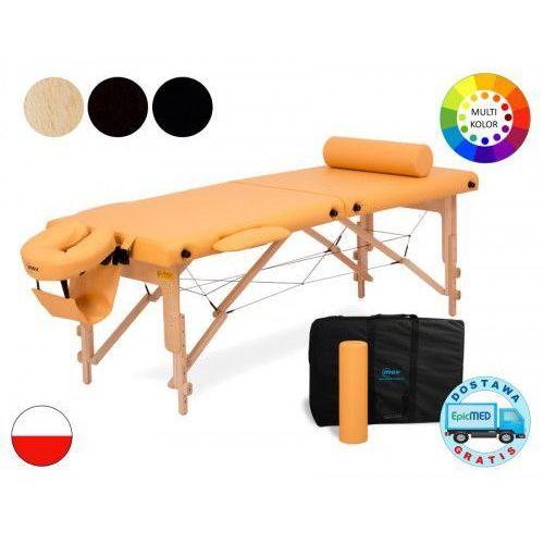 Składany stół do masażu premium drewniany z regulacją wysokości marki Mov
