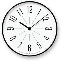 Zegar Awa Jiji biała tarcza czarna oprawa (4260278081606)