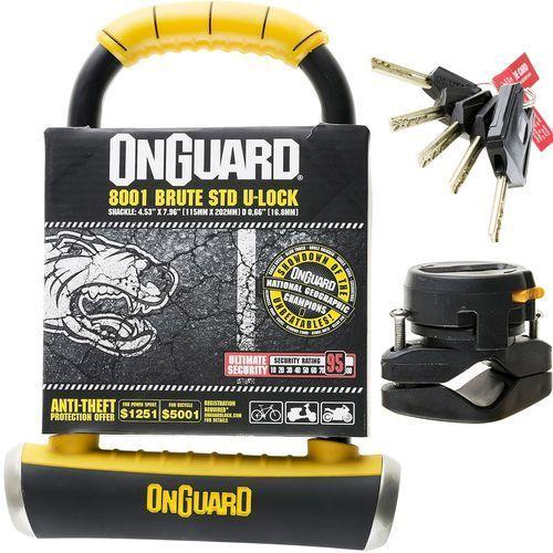 Onguard brute std 8001 zapięcie typu u-lock 115x202 mm Ø16,8 mm u-locki
