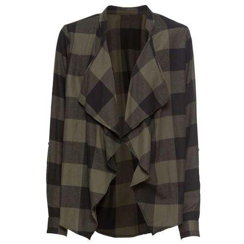 4dcf361cb428a Zobacz ofertę Bonprix Wdzianko koszulowe zielonoszaro-czarny w kratę
