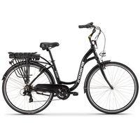 Rower elektryczny INDIANA E-City D18 Czarny + Zamów z DOSTAWĄ JUTRO! + DARMOWY TRANSPORT!