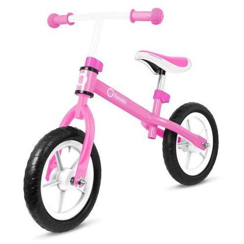 Rowerek biegowy Lionelo Fin różowy + PUZZLE