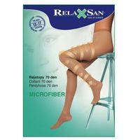 Relaxsan (włochy) Rajstopy przeciwżylakowe 70 den, ucisk 12-17 mmhg, kryjąca microfibra