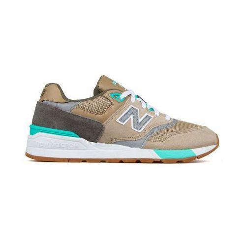 Buty sportowe męskie NEW BALANCE - ML597-07, kolor beżowy