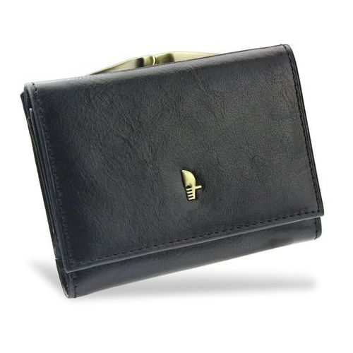 Portfel Damski Skórzany PUCCINI Klasyczny Czarny z Biglem MU1701