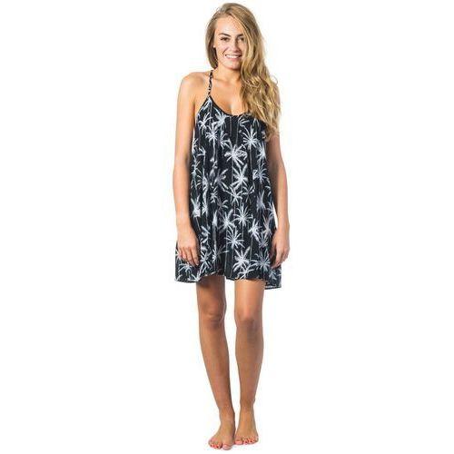Rip curl Sukienka - island love mini dress black (90) rozmiar: s