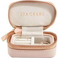 Pudełko podróżne na biżuterię travel mini stackers blush pink