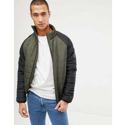0570cfb8bec24 padded jacket with contrast raglan sleeve - green, French connection ASOS
