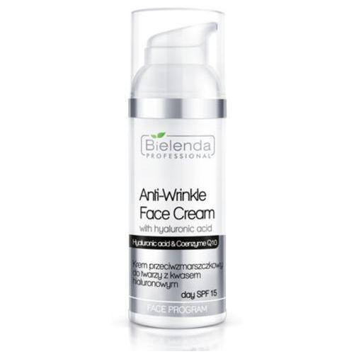 Bielenda professional anti-wrinkle face cream with hyaluronic acid spf 15 krem przeciwzmarszczkowy z kwasem hialuronowym spf 15 - 50 ml