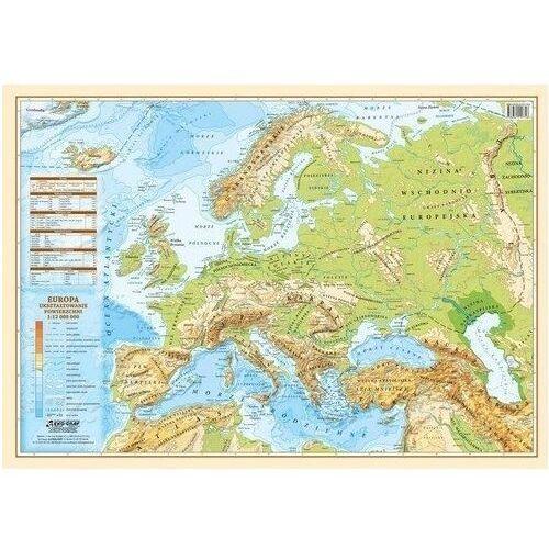 Podkładka Na Biurko Mapa Europa Polityczno Fizyczna 1:12 000 000 Wyd. 2