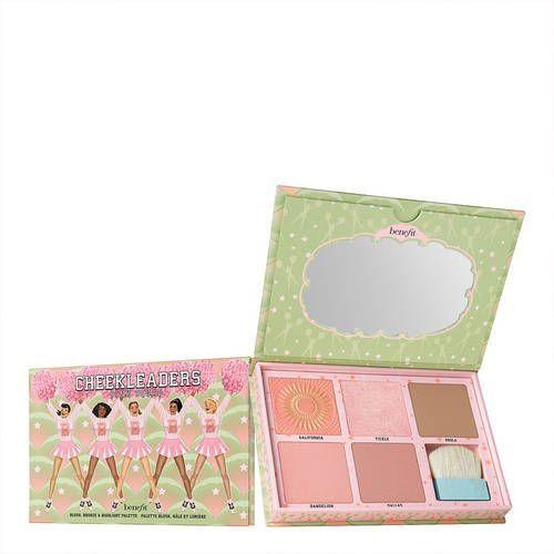Benefit cosmetics Cheekleaders pink squad - paleta róży i rozświetlaczy
