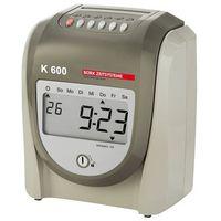 Urządzenie do rejestracji czasu pracy k 600, dla maks. 50 osób, wys. x szer. x g marki Unbekannt