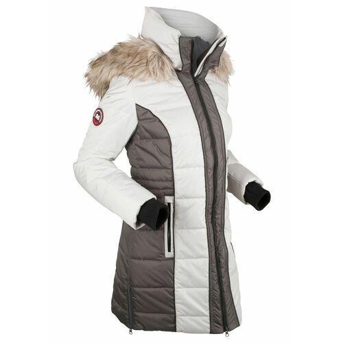 Krótki płaszcz outdoorowy bonprix srebrno-szary, poliester
