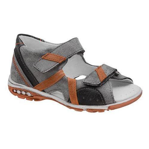 Sandałki dla chłopca 4959 popielate szare marki Kornecki