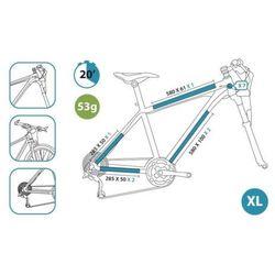 Naklejki ochronne na rower CLEARPROTECT bezbarwny / Rozmiar: XL