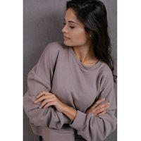 Dresowa bluza ze sznurowanym ściągaczem - ciemnoszara