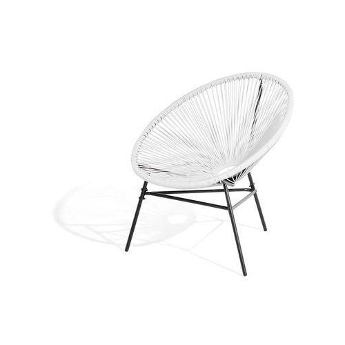 Krzesło Ogrodowe Białe Acapulco Beliani