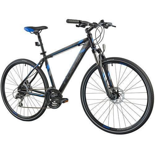 Rower INDIANA X-Cross 3.0 M19 Czarno-niebieski + 5 lat gwarancji na ramę + Zamów z DOSTAWĄ JUTRO!