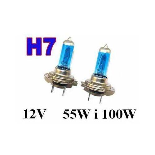Żarówki (2szt.) Samochodowe H7 (12V) Xenon H.I.D. BLUE VISION (moc 55W lub 100W) - Homologowane.
