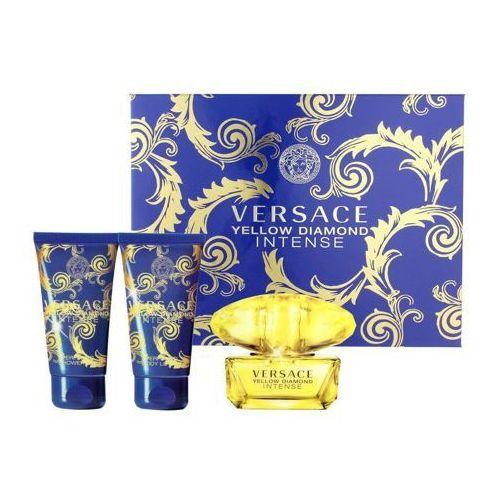 Yellow diamond intense woda perfumowana 50 ml + żel pod prysznic 50 ml + mleczko do ciała 50 ml Versace
