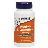Suplementy prozdrowotne NOW FOODS Acetyl-L-Carnitine 500mg 50vcaps Najlepszy produkt