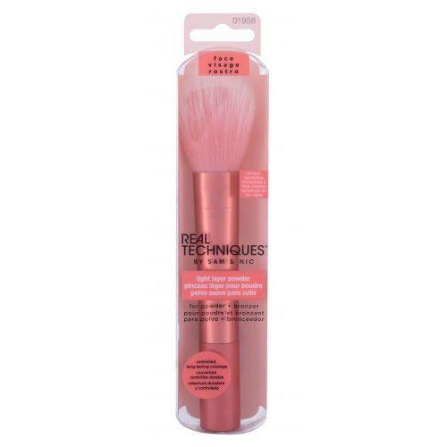 Real techniques brushes light layer powder pędzel do makijażu 1 szt dla kobiet - Promocja