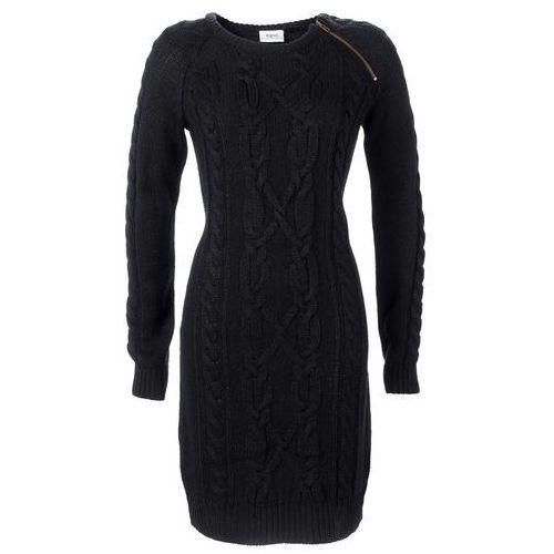 Sukienka dzianinowa czarny, Bonprix, 32-50