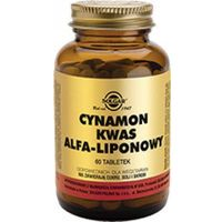 SOLGAR Cynamon i kwas alfa-liponowy, 60 tabl. (033984008786)