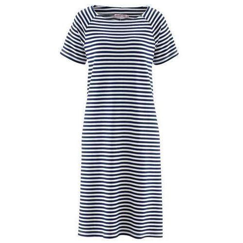 f693191a66 Zobacz ofertę Bonprix Sukienka z kolekcji maite kelly ciemnoniebiesko-biały  w paski