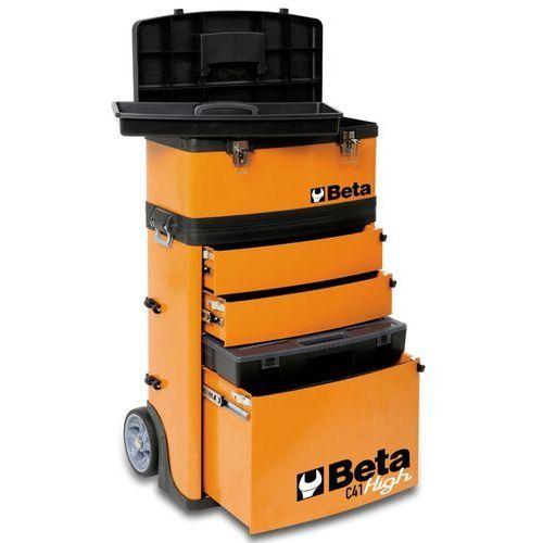 Beta tools  skrzynia na narzędzia kółkach c41h/o pomarańczowa 041000002 (8014230539911)