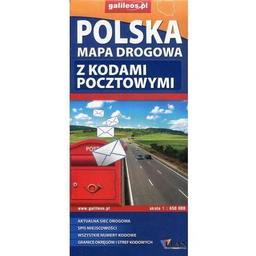 Polska mapa drogowa z kodami pocztowymi 1:650 000 - Lider Serwis, praca zbiorowa