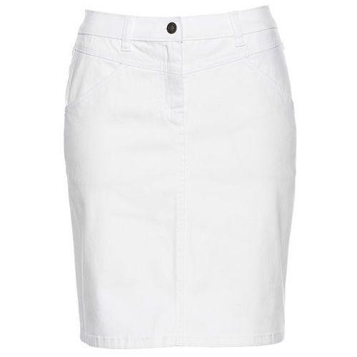 Spódniczka dżinsowa biały marki Bonprix