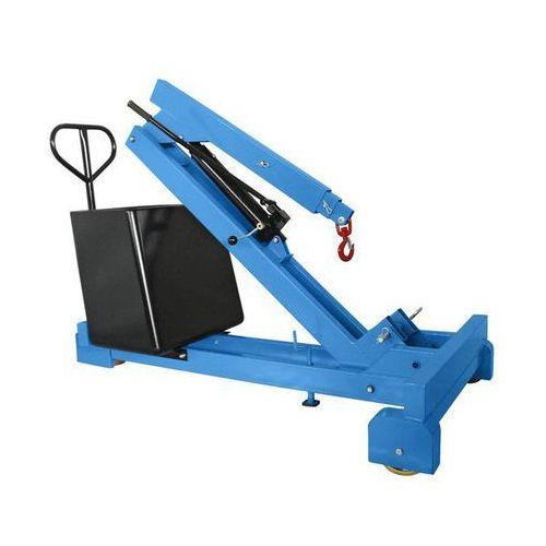 Unbekannt Żuraw z przeciwwagą, nośność maks. 550 kg, pompa hydrauliczna o działaniu podwój