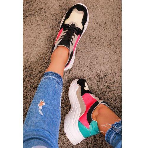 Damskie buty sportowe ZOJA PINK/BLACK, w 6 rozmiarach