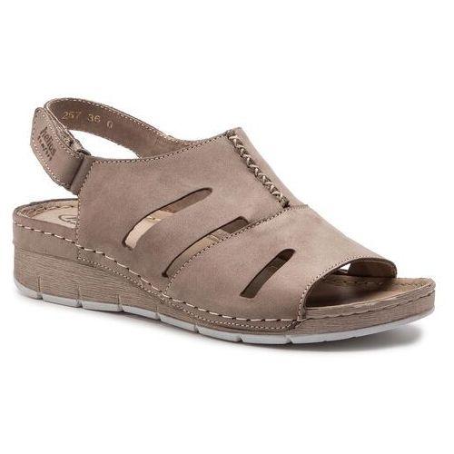 Sandały - 257 beż marki Helios