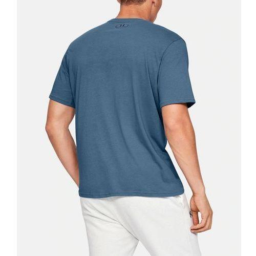 Under armour koszulka ua team issue wordmark ss niebieska - niebieski