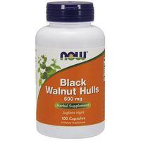 Kapsułki Now Foods Black Walnut Hulls (Czarny Orzech) 500mg 100 kaps.