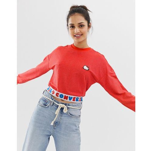 X Hello Kitty red tape long sleeve t-shirt
