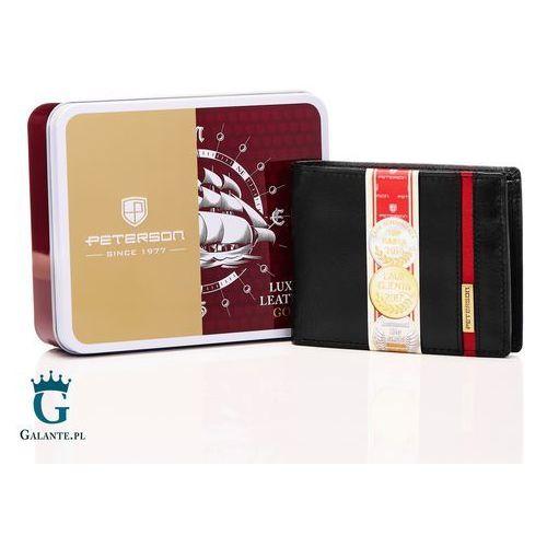 02f7f5e176703 Kompaktowy portfel męski ze skóry 347 red (Peterson) - sklep ...