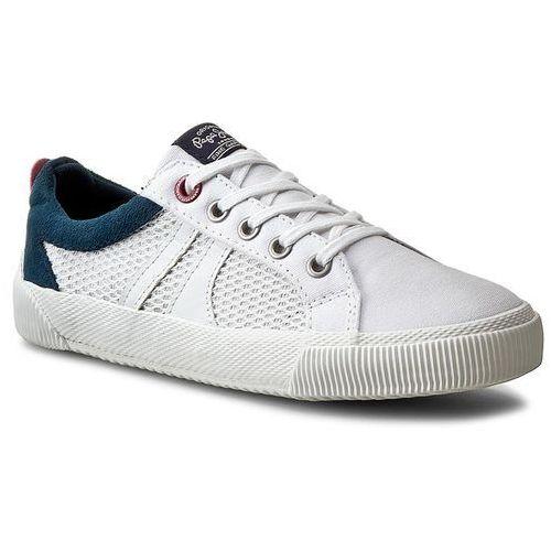 Tenisówki - gareth mesh pbs30171 white 800 marki Pepe jeans