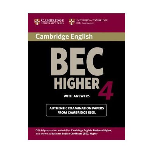 Cambridge BEC 4 Higher Student's Book with answers, Cambridge ESOL