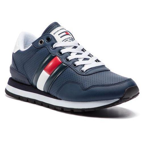 09b883691eb75 Tommy Jeans Sneakersy TOMMY JEANS - Lifestyle Tommy Jeans Sneaker  EM0EM00263 Ink 006
