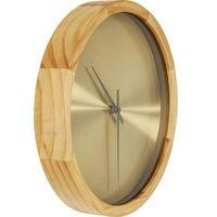 KARE Design:: Zegar ścienny Edge złoty, kolor żółty