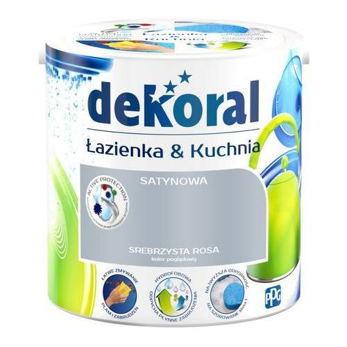 Farba satynowa łazienka i kuchnia srebrzysta rosa 2 5 l marki Dekoral